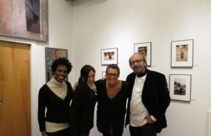 Left to right, Valerie Gay, Owner, The Art Sanctuary, Philadelphia, Mona Sarshar, Erinn Cosby, Frank Farley.