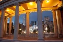 Nighttime Downtown Denver Skyline, Civic Center Park