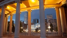 Nighttime Downtown Denver Skyline, Civic Center Park