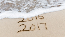 New year. 2016 being washed away 2017 coming.
