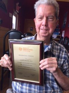 Presidential citation to Joseph Browne for his significant contributions to The Amplifier magazine.
