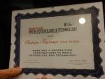Award to Ronan Farrow. Photo by Debbie Joffe Ellis.