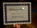 Award to Stephanie Lee. Photo by Debbie Joffe Ellis.