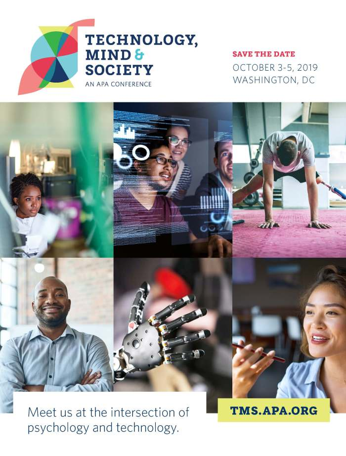 Technology, Mind and Society 2019 Conference advertisement